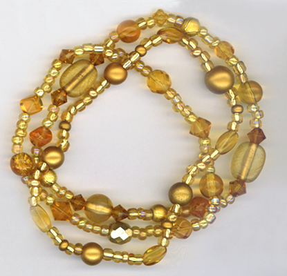 gold triple stretch bracelet