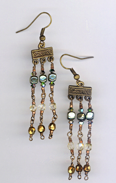 Vintage ChampagneChand earrings