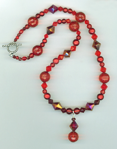 Santa's Helper Red necklace