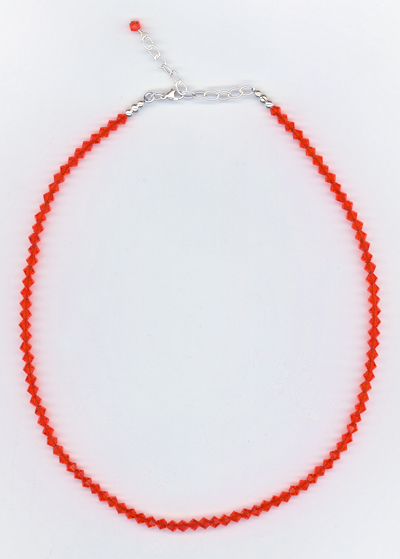 orange sun crystal necklace
