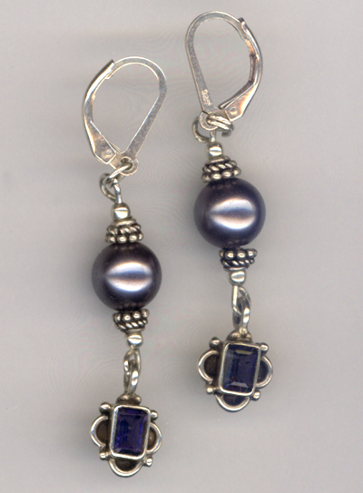pearl amethyst earrings
