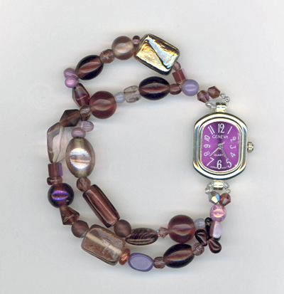 purple face stretchy watch