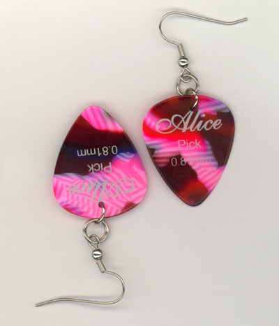 alice candy stripe gp earrings