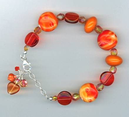 orange lamwork bracelet